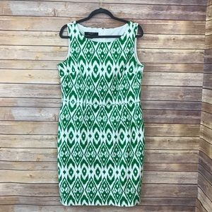 Nine West Printed Sleeveless Sheath Dress Sz 14